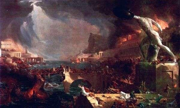 ローマ帝国の崩壊   トーマス・コール