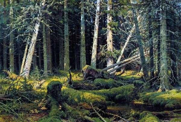 ブレロム(ヴォログダの森)。風になびく木々   Ivan Shishkin