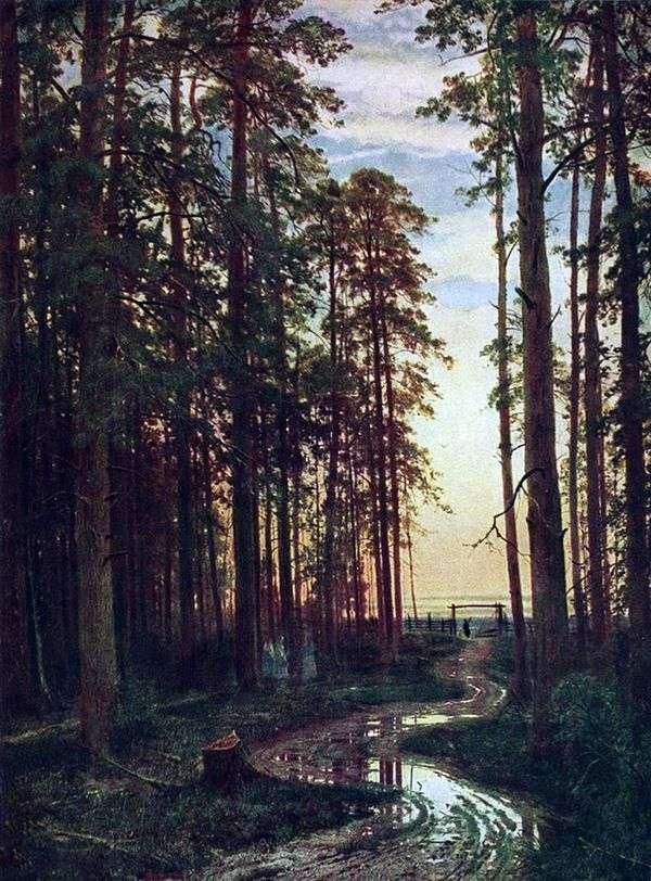 松林の中の夜   Ivan Shishkin
