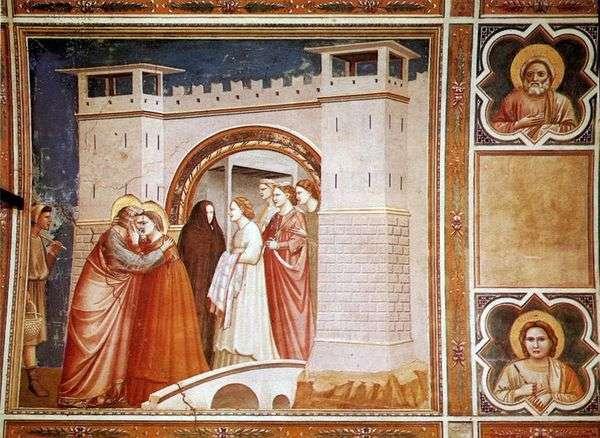 ゴールデンゲートでのジョナヒムとのアンナの出会い   Giotto di Bondone