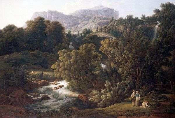 山の風景   ヨーゼフアントンコッホ