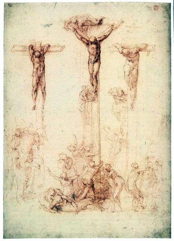 3つの十字架を持つエチュード   Michelangelo Buonarroti