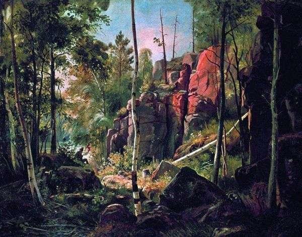 Valaam島(Kukko地区)   Ivan Shishkinの眺め