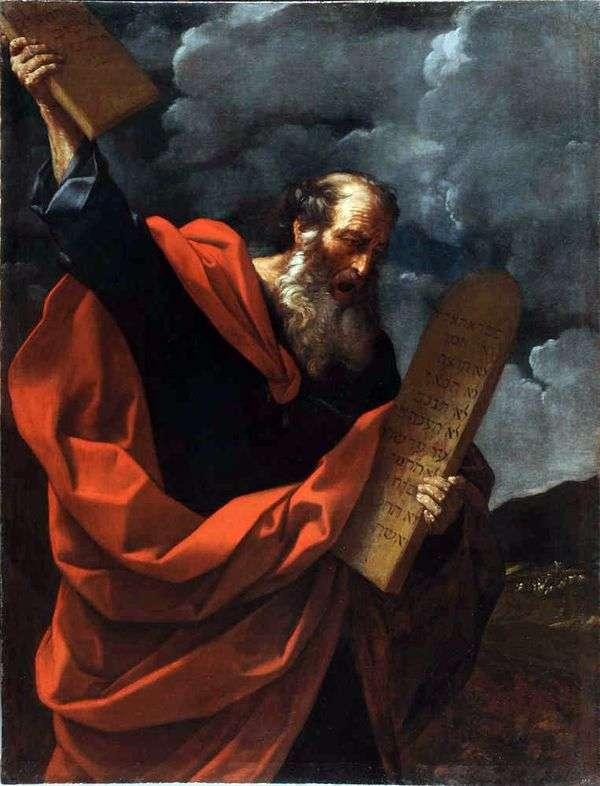 法の錠剤とモーセ   Guido Reni