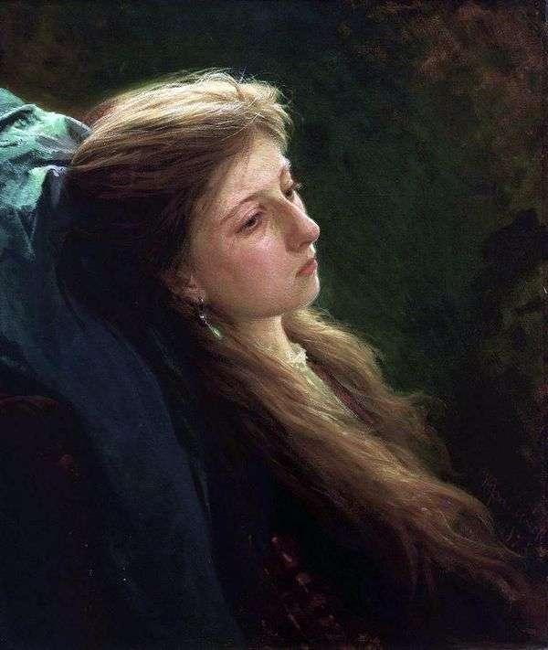 緩い鎌を持つ少女   Ivan Kramskoy