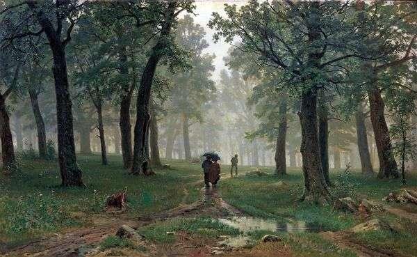 オークの森の雨   Ivan Shishkin