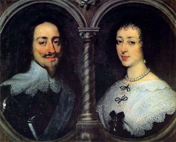 チャールズ1世とアンリエッタマリアの肖像   アンソニーヴァンダイク