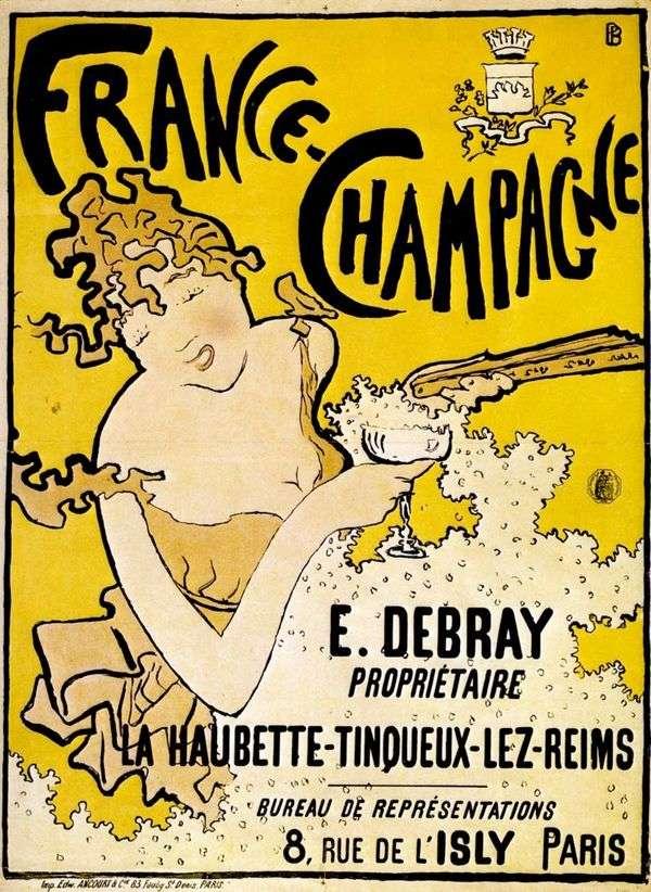 フランスのシャンパンポスター   Pierre Bonnard