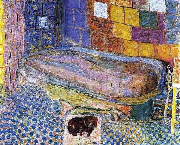 お風呂で犬と一緒にいる女性   Pierre Bonnard