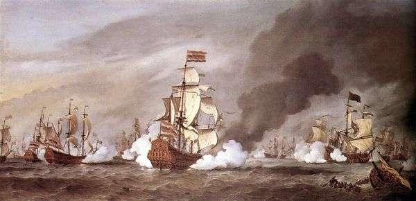 テクセルの戦い   Willem van de Velde