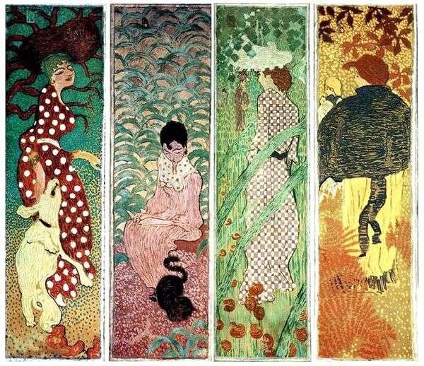 庭の女性たち   Pierre Bonnard