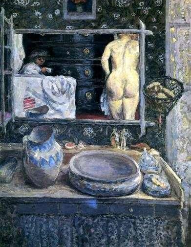 流しの上を鏡で覆う   Pierre Bonnard