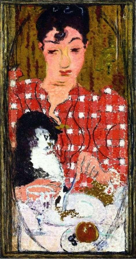 市松模様のブラウス   Pierre Bonnard