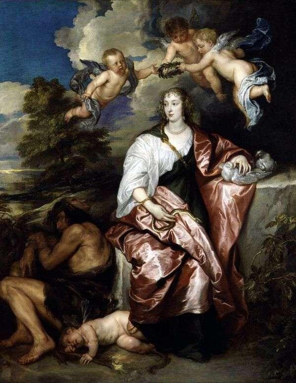 プルーデンス   アンソニー・ヴァン・ダイクを擬人化するヴェネツィアの女性の肖像画