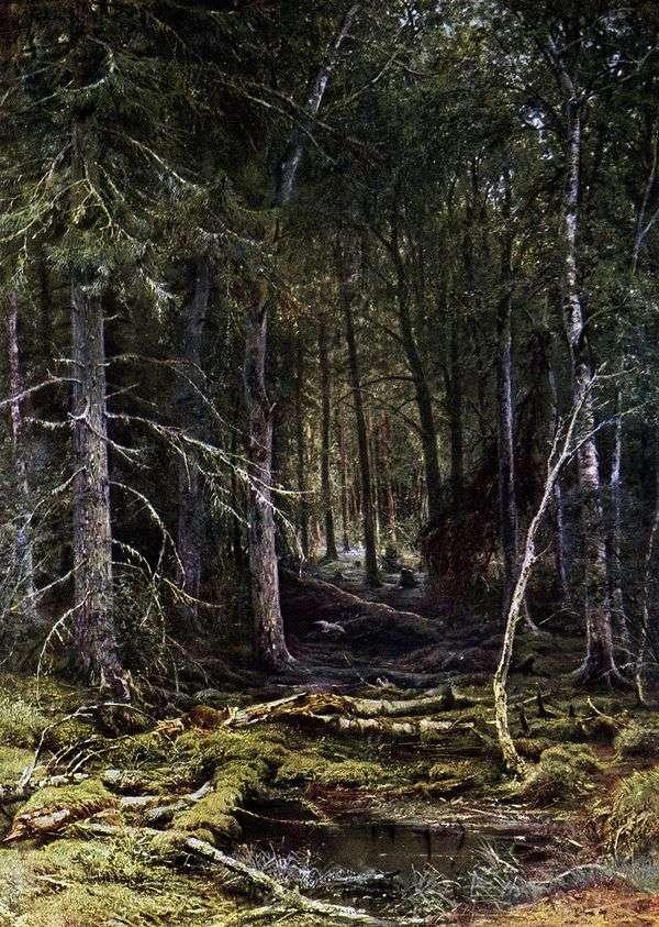 森の荒野   イワン・シシキン