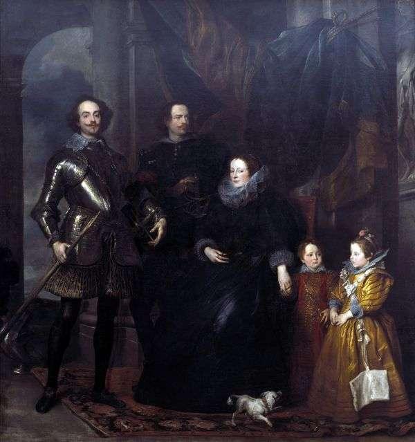 ロメリーニ家の肖像   アンソニー・ヴァン・ダイク