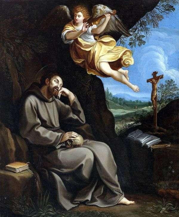 聖フランシスと天使   グイドレニ
