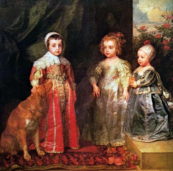 チャールズ1世の年長の子供3人の肖像   アンソニー・ヴァン・ダイク