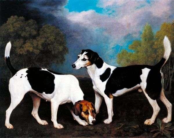 狩猟犬のいる風景   George Stubbs