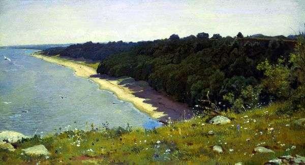 海岸で   Ivan Shishkin