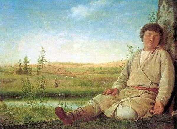 寝ている羊飼い   Alexey Venetsianov