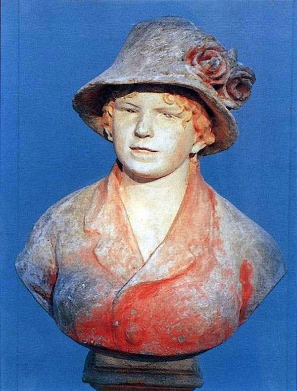 ルノワールの妻アリーナの胸像   ピエールオーギュストルノワール
