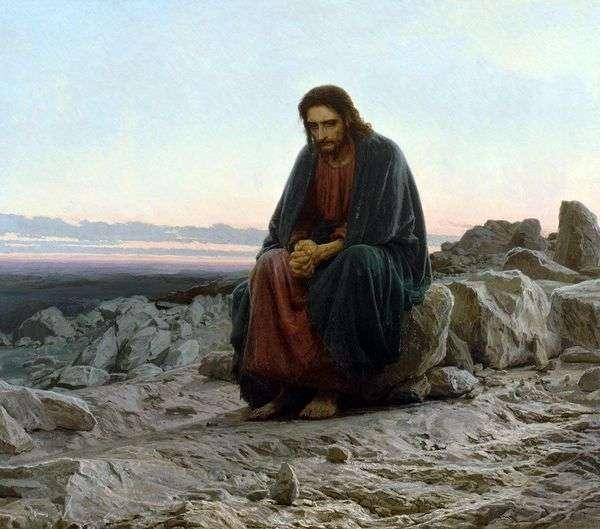 砂漠のキリスト   Ivan Kramskoy
