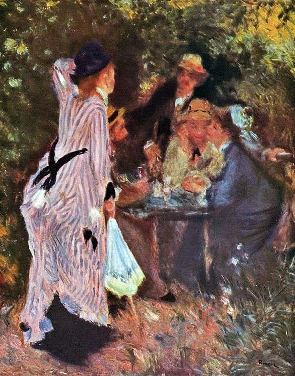 庭園(ムーラン・ド・ラ・ガレットの木々の下)   Pierre Auguste Renoir