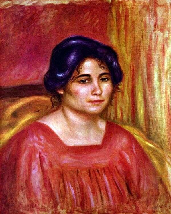 赤いブラウスのガブリエル   Pierre Auguste Renoir