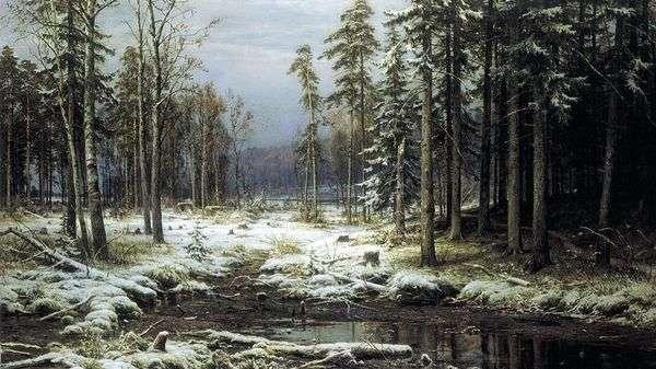 最初の雪   Ivan Shishkin