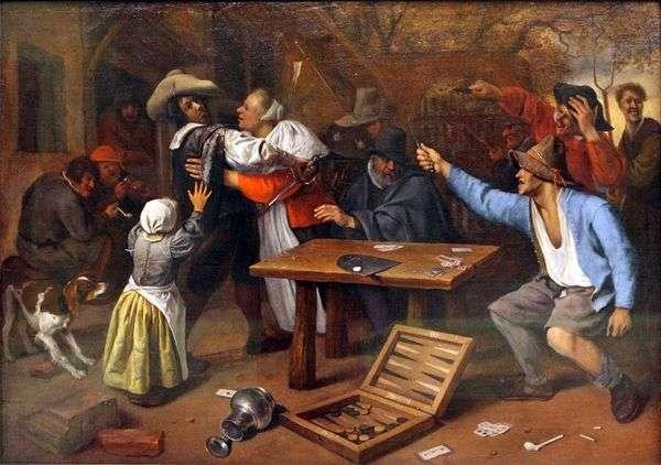 カードゲームの議論   Jan Steen