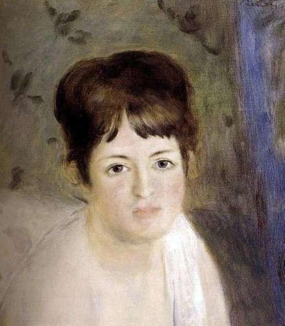 女性の頭   ピエールオーギュストルノワール