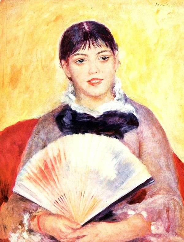 ファンを持つ少女   Pierre Auguste Renoir
