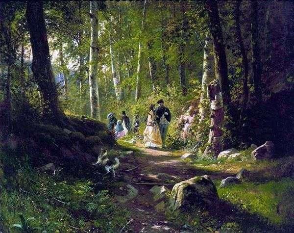 森の中を歩く   Ivan Shishkin