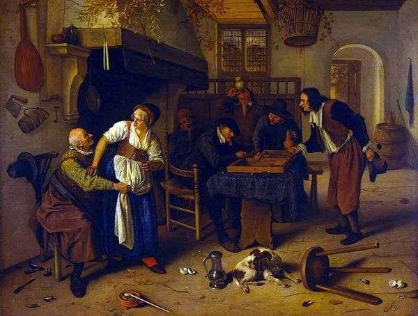居酒屋で   Jan Steen