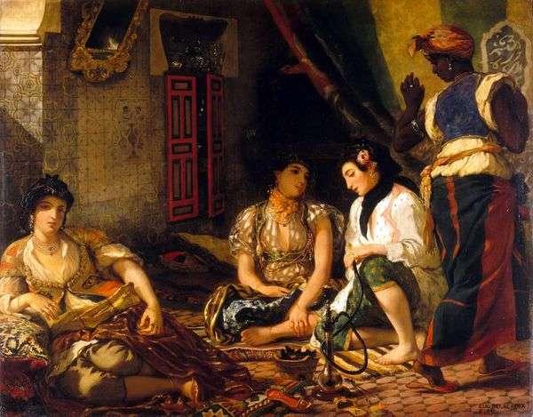 室内のアルジェリア人女性   Eugene Delacroix