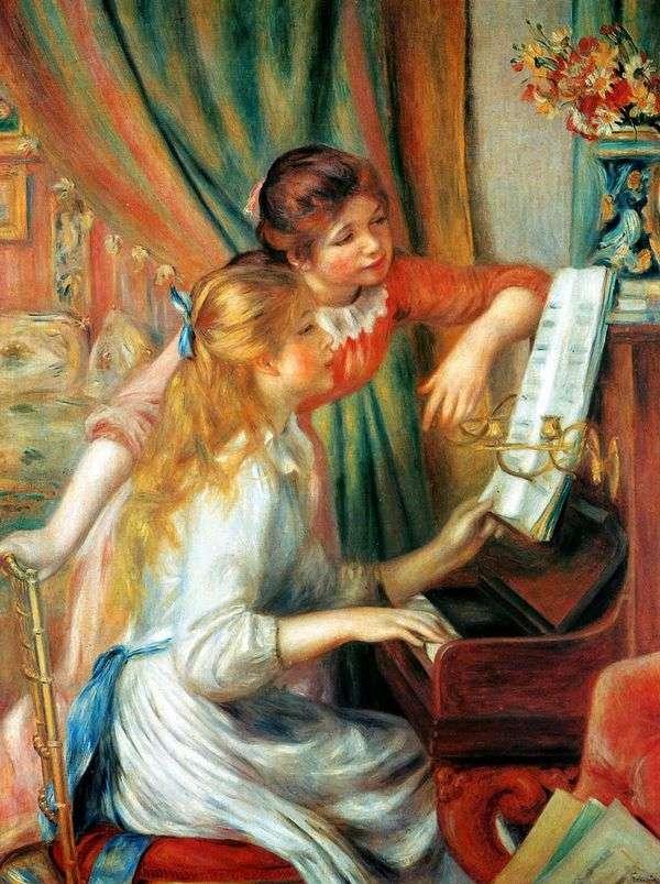 ピアノの女の子(ピアノの女の子)   Pierre Auguste Renoir
