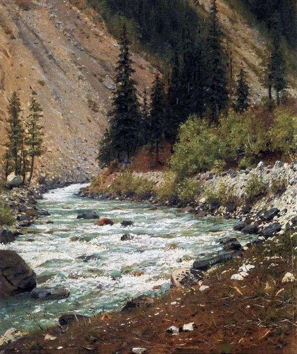 カシミールの渓流   Vasily Vereshchagin