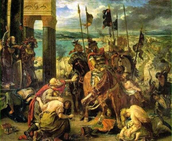 十字軍がコンスタンティノープルを捕獲   Eugene Delacroix