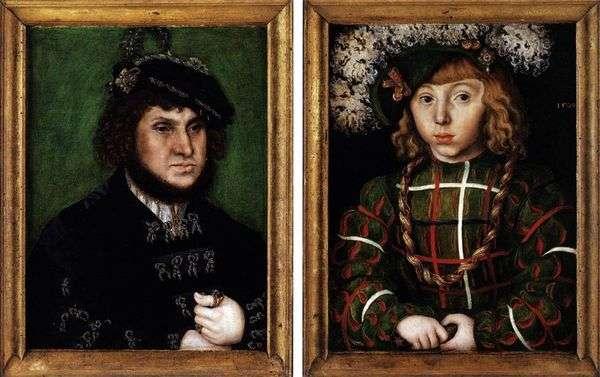 Johann Tverdyとその息子Johann Friedrich   Lukas Cranachの二重像