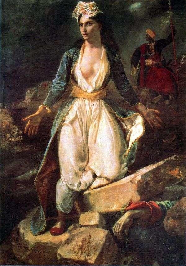 Missolungi   Eugene Delacroixの遺跡のギリシャ