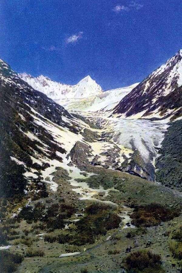 カシミールからラダック   Vasily Vereshchaginへの道の氷河