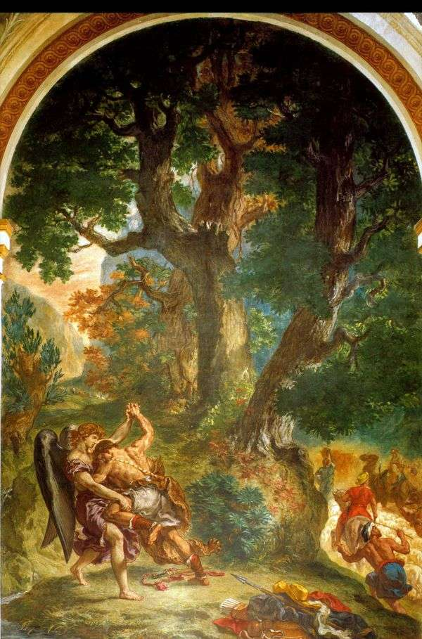 ヤコブの天使とのレスリング   Eugene Delacroix