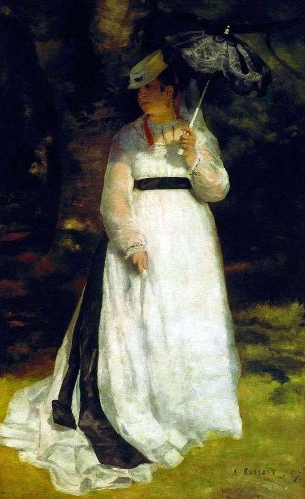 傘を持つリサ   ピエールオーギュストルノワール