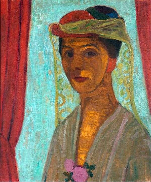 ベールをかぶった帽子の自画像   ポーラ・モダーゾーン・ベッカー