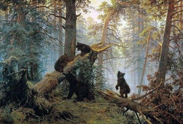 松林の中の朝(Three Bears)   イワン・シシキン