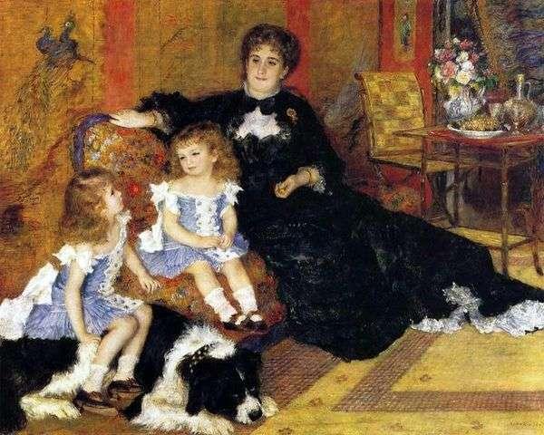 マダムシャンペンティエール(お子様連れ)   Pierre Auguste Renoir