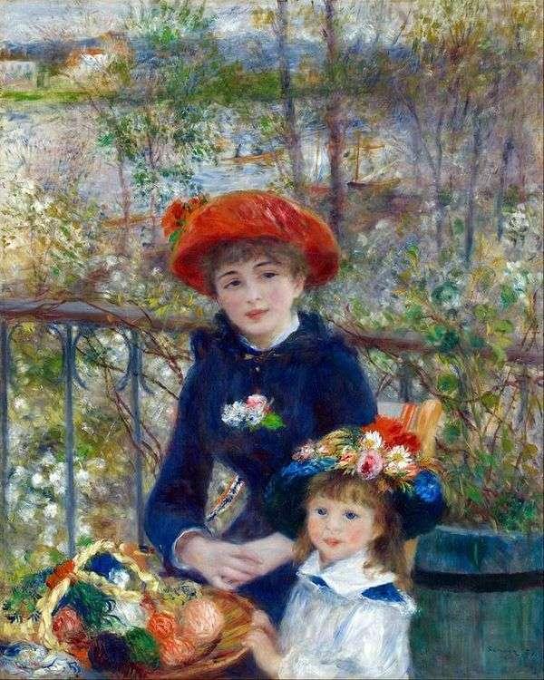 テラス(Two Sisters)   ピエールオーギュストルノワール