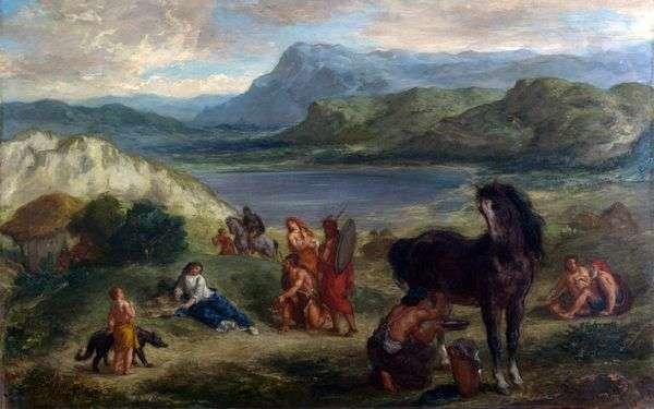 スキタイ人の卵子   Eugene Delacroix