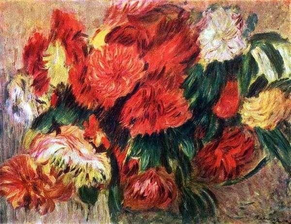 菊のある静物   Pierre Auguste Renoir